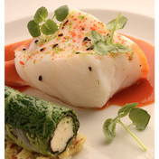Oven-steamed cod in lime