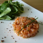 Double salmon tartare