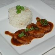 Pork tenderloin with honey