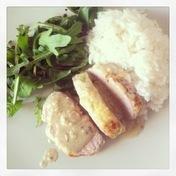 Pork filet mignon with Roquefort sauce