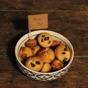 Financier cakes: almond, chocolate and caramel