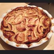 Apple Flognarde (apple filled half-pancake, half-custard )