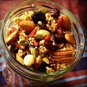 Mixed dried fruit and nut granola