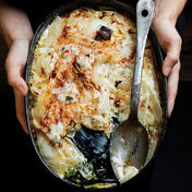 Cream and onion gratin