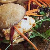 Marinated-chicken burger