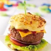 Potato-bun burger