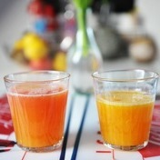 Fresh orange juice and citrus cocktail