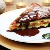 Napoleons with Madagascar vanilla and Tonka bean-chocolate sauce
