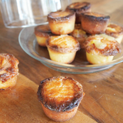Breton salted butter caramels/lemon curd filled muffins