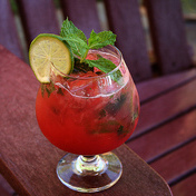 Strawberry basil mojito