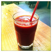 My tomato juice.