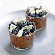 Chocolate and Gorgonzola crispy mousse