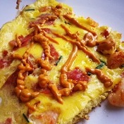 Scampi and Salami Omelette