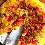 Spanish tortilla style frittata