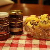 Tapenade and tomato supreme palmier appetizer