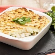 Chicken parmentier (potato-chicken pie)
