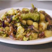 Rustic pan-fried vegetables