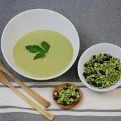 Saint-Germain Potage (split pea soup)  with croutons