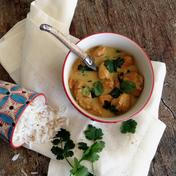 Coconut chicken curry with cilantro