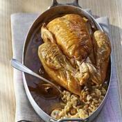 Coquillette stuffed chicken