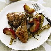 Roasted Chicken Apple Leek