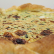 Zucchini and Beaufort Quiche