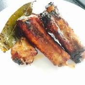 CocaCola® and bay leaves ribs