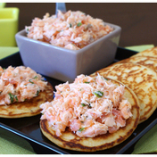 Two-salmon rillettes