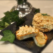 Fera rillettes with lemon