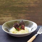 Fresh morel and star anise risotto