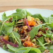 Red Rice and Apricot,Orange and Pistachio Quinoa