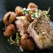 Roast pork with chestnuts