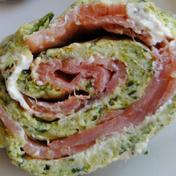 Salmon, zucchini and cream cheese roulade