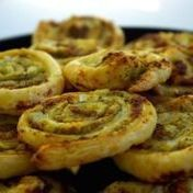 Pinwheels with pesto