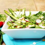 Very crunchy asparagus salad