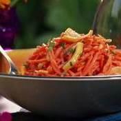 Very orangey carrot salad