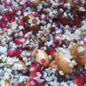 Quinoa salad with pomegranate and walnuts