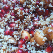 Quinoa salad with pomegranate and walnuts