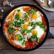 Shakshuka (baked egg dish)