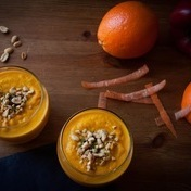 Carrot, orange and turmeric soup