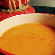 Curried butternut squash and apple soup