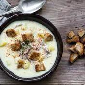 Duck confit and potato soup
