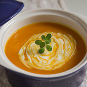 Red kuri pumpkin soup