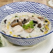 Hearty chicken and mushroom soup