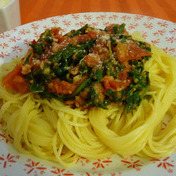 Arugula and tomato spaghetti
