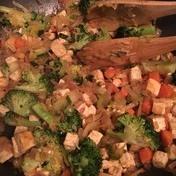 Stir broccoli with tofu fried