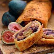 Fresh fig strudel