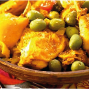 Chicken, lemon and olive tajine
