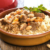 Veal tajin with apricots and couscous