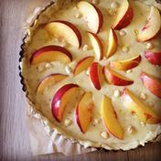 Nectarine and almond tart